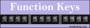 Use of Function keys in computer or laptop