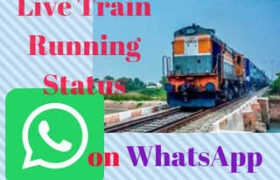 Live Train Running Status on Whatsapp in Hindi